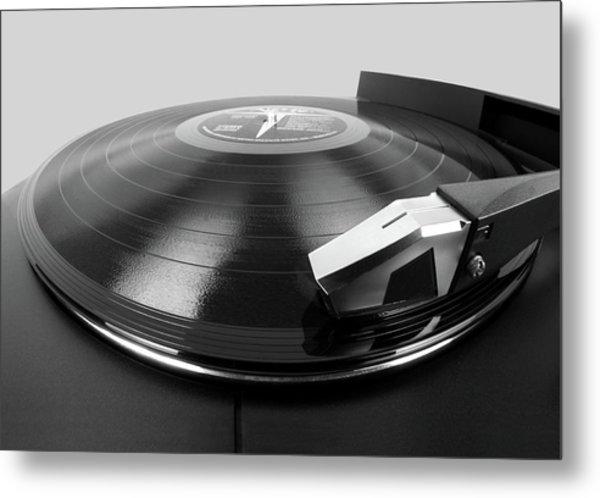 Vinyl Lp And Turntable Metal Print