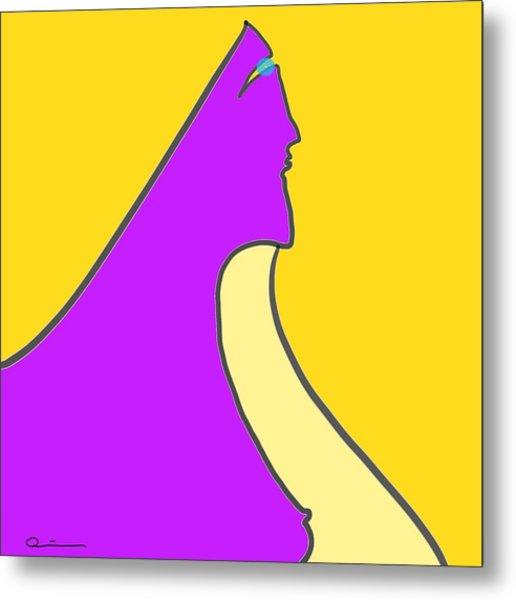 Violet Blonde Metal Print