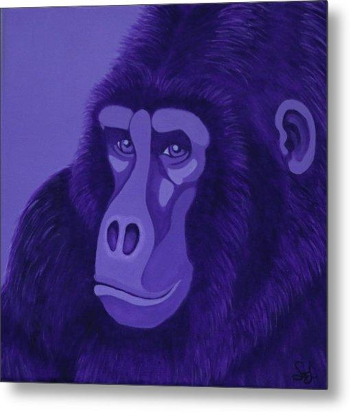 Violet Gorilla Metal Print