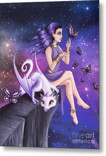 Violet Night Fantasy Metal Print