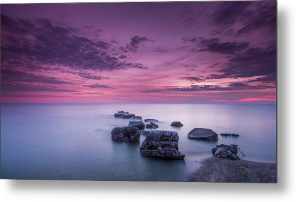 Violet Skies Metal Print