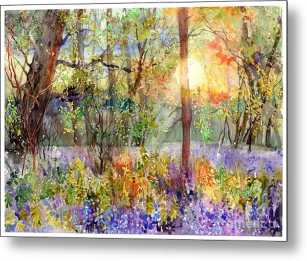 Violet Sunrise Metal Print
