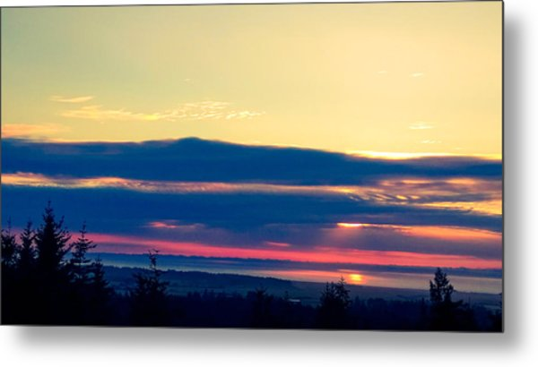 Violet Sunset Metal Print