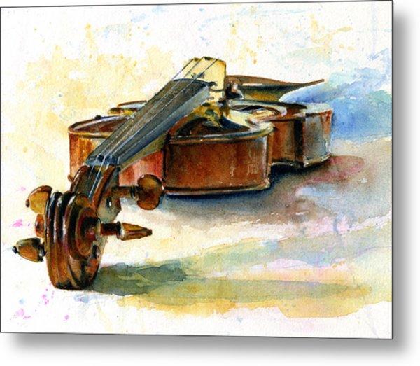 Violin 2 Metal Print