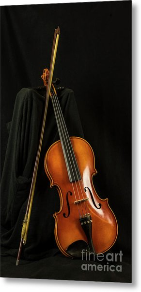 Violin And Bow Metal Print