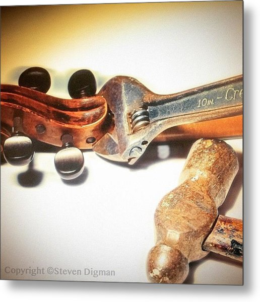 Violin Mechanics  Metal Print