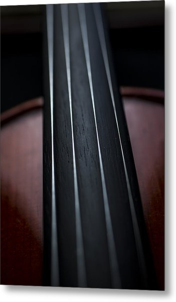 Violin Portrait Music 3 Metal Print