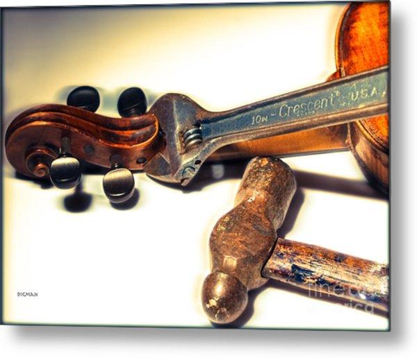 Violin Repair  Metal Print by Steven Digman