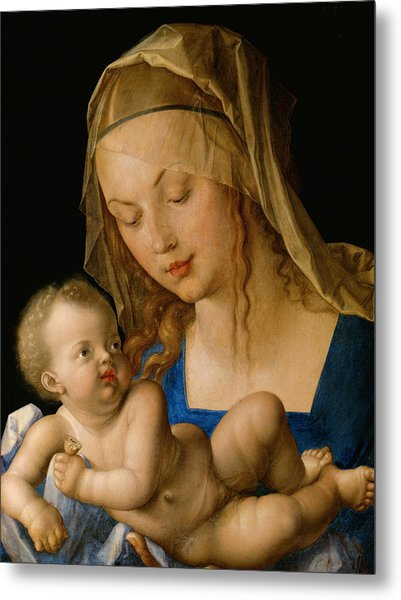 Virgin And Child With A Pear Metal Print