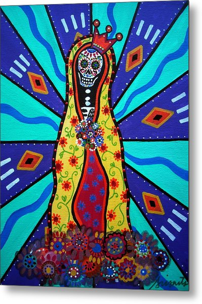 Virgin Guadalupe Day Of The Dead Metal Print