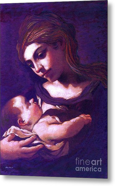 Virgin Mary And Baby Jesus, The Greatest Gift Metal Print