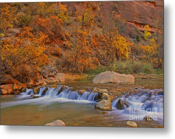 Virgin River In Autumn Metal Print by Dennis Hammer
