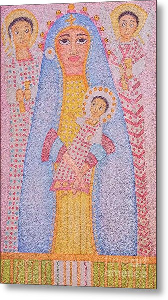 Virgin Saint Mary And Her Son Metal Print