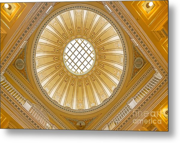 Metal Print featuring the photograph Virginia Capitol - Dome by Jemmy Archer