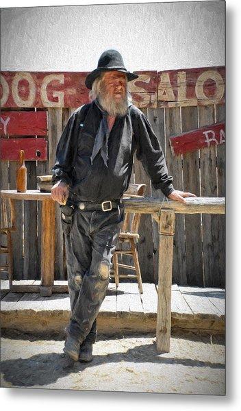 Virginia City Cowboy Metal Print