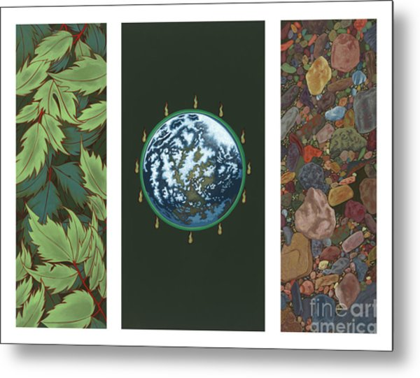 Viriditas Triptych Metal Print