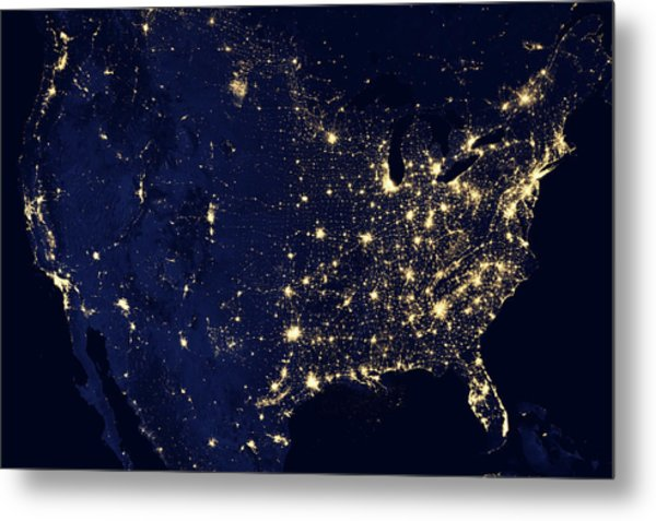 Visible Light Map Of The Us Photograph by JC Findley