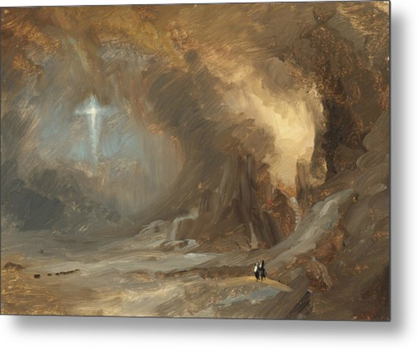 Vision Of The Cross Metal Print
