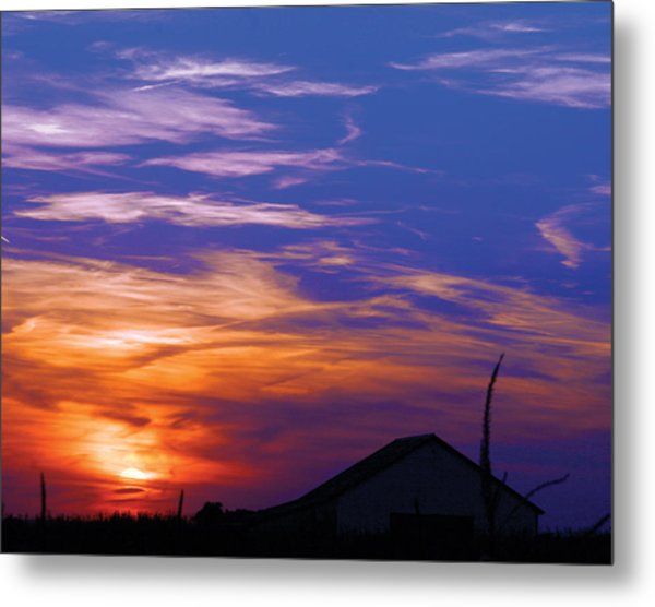 Visionary Sunset Metal Print by Carl Perry
