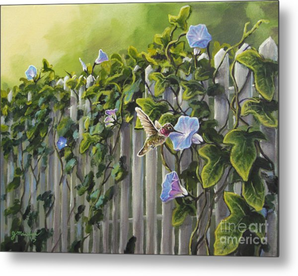 Visiting The Morning Glories Metal Print