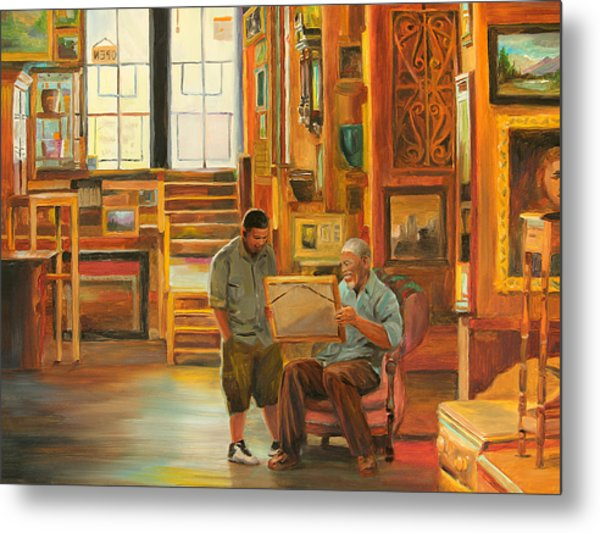 Visiting The Picture Man Metal Print
