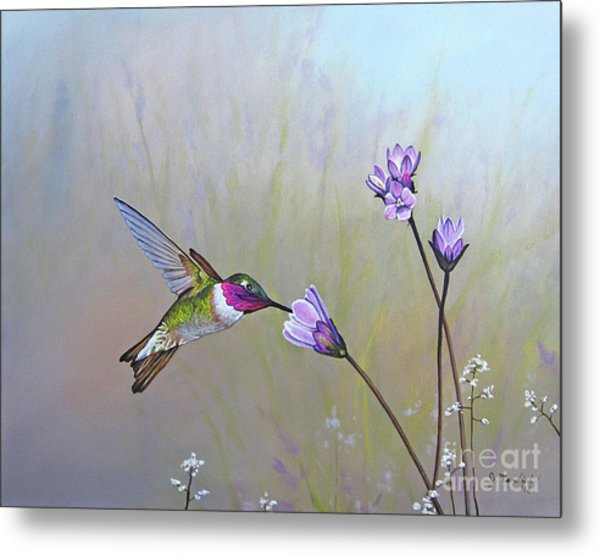 Visiting The Purple Garden Metal Print
