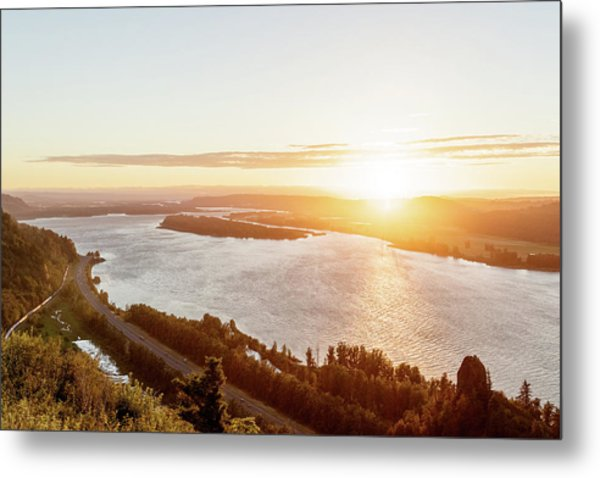 Vista House Sunset Metal Print by Jason Clarke
