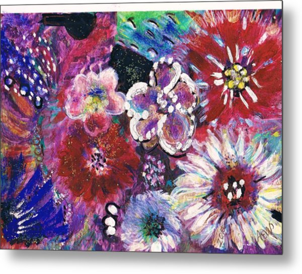 Viva Con Pasion Metal Print by Anne-Elizabeth Whiteway