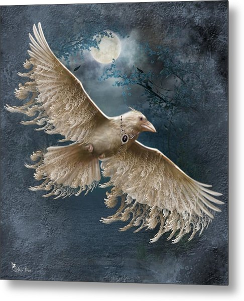 Viva The White Raven  Metal Print