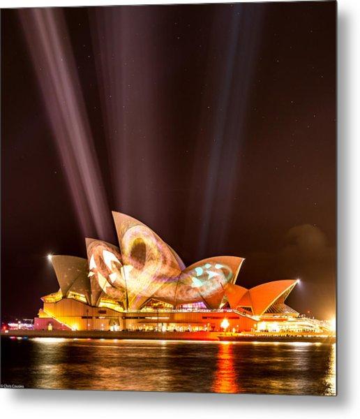 Vivid Opera House Metal Print