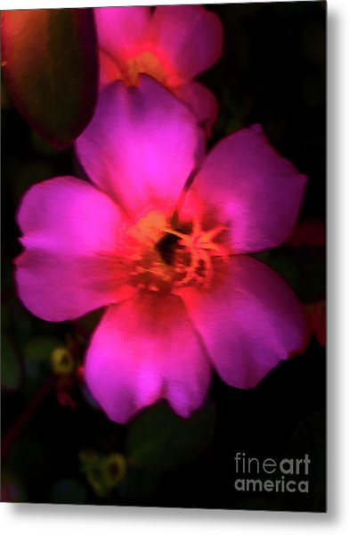 Vivid Rich Pink Flower Metal Print