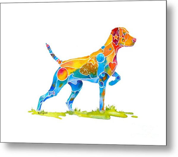Vizsla On Point Metal Print