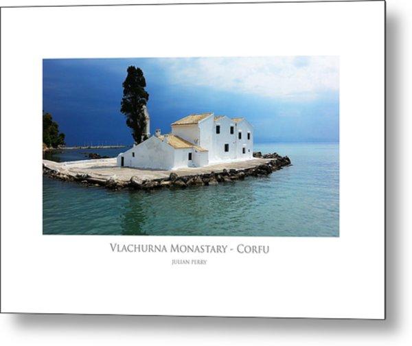 Vlachurna Monastary - Corfu Metal Print