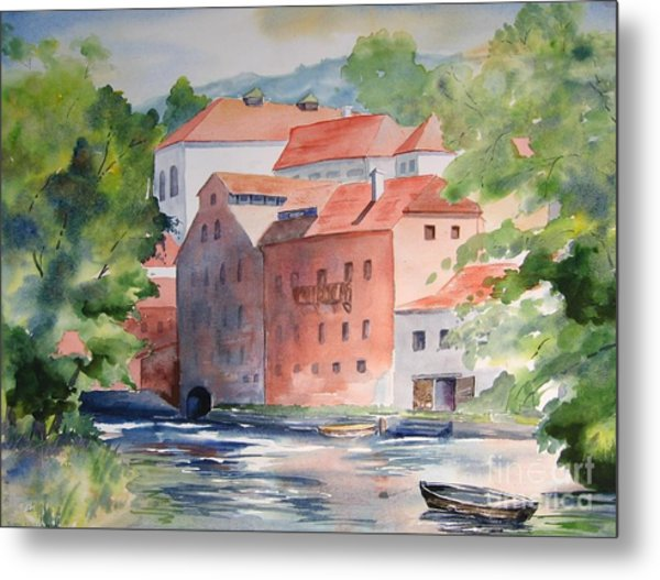 Vlatava Mill Metal Print