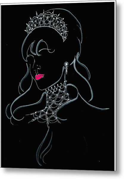 Vodka Princess Metal Print by Yvonne Ayoub
