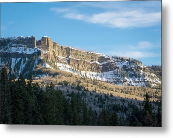 Volcanic Cliffs Of Wolf Creek Pass Metal Print