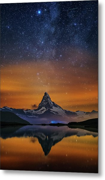 Volcano Fountain Metal Print