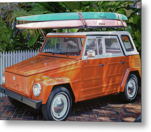 Volkswagen And Surfboards Metal Print