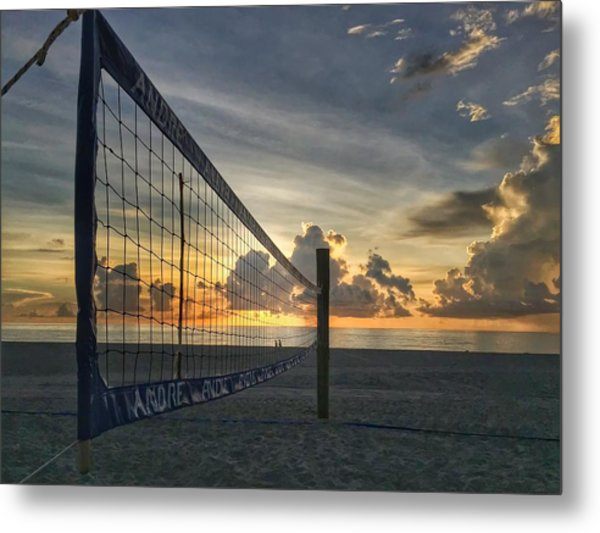 Volleyball Sunrise Metal Print