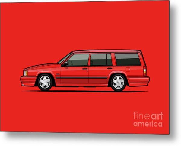 Volvo 740 745 Se Turbo Classic Red Metal Print