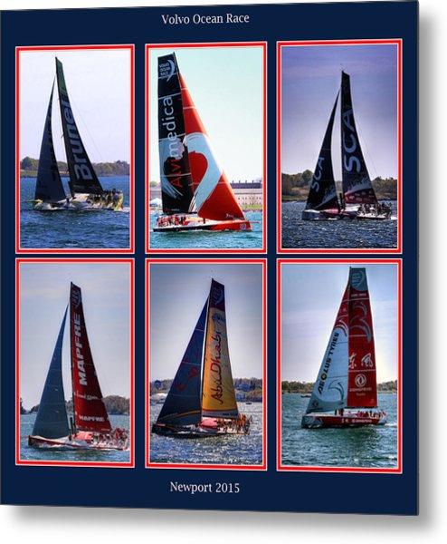 Volvo Ocean Race Newport 2015 Metal Print