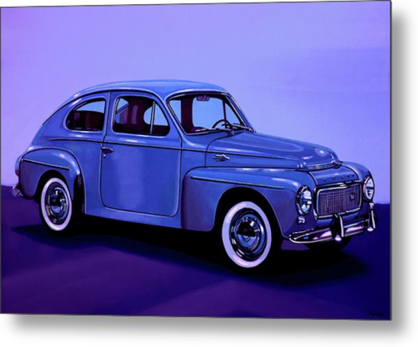 Volvo Pv 544 1958 Mixed Media Metal Print