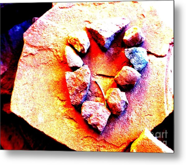 Vortex Heart Red Rocks Metal Print