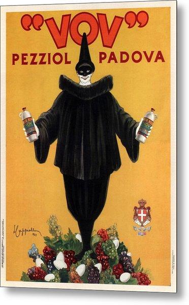 Vov Pezziol - Italian Liquer - Padova, Italy - Vintage Advertising Poster Metal Print