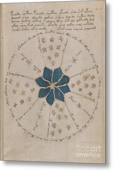 Voynich Manuscript Astro Rosette 2 Metal Print