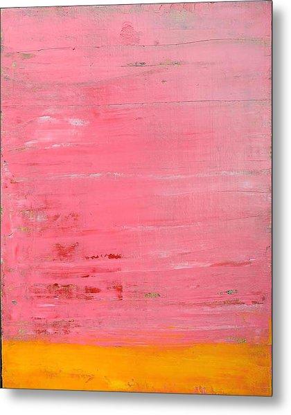 Pink Oil On Board 16 X 20 Metal Print