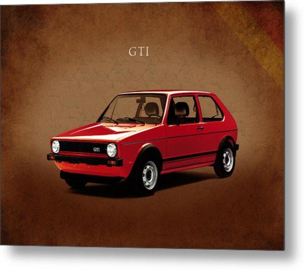 Vw Golf Gti 1976 Metal Print