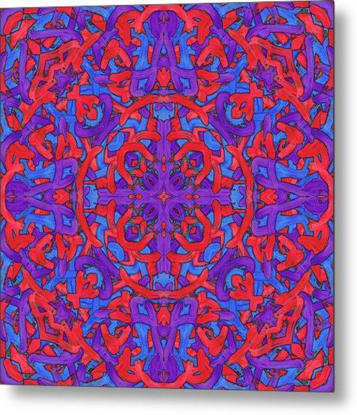 W E D - Pattern Metal Print