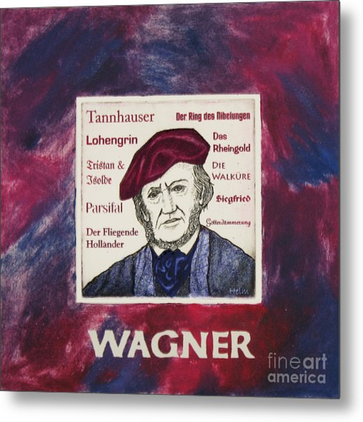 Wagner Portrait Metal Print by Paul Helm