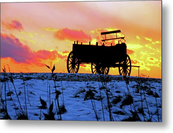 Wagon Hill At Sunset Metal Print